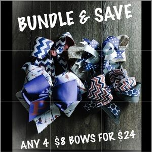 Accessories - Any 4  $8 Hair Bows for $24